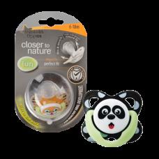 熊貓造型夜光矯齒形安撫奶咀(6-18個月)
